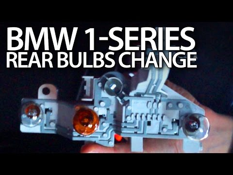 BMW 1-Series rear bulbs replacement (E81 E87 LCI)