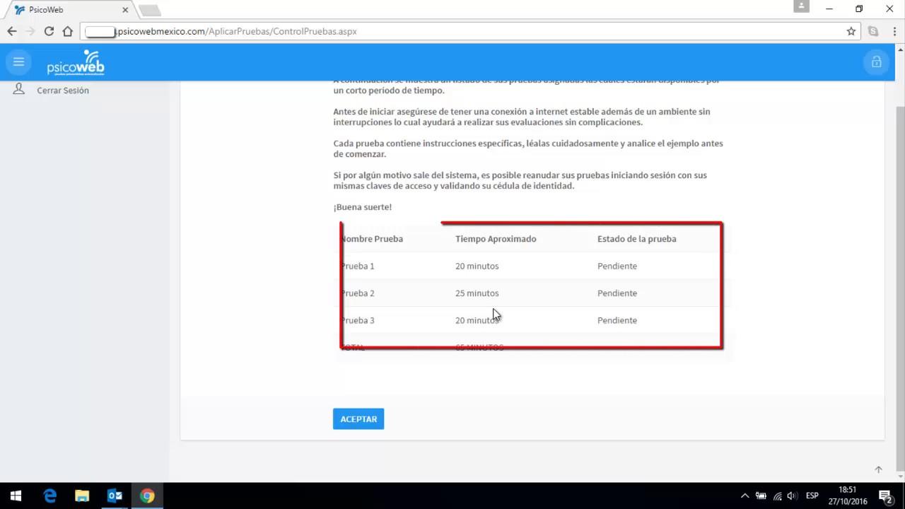 Como aplicar las pruebas como candidato | Psicoweb - YouTube