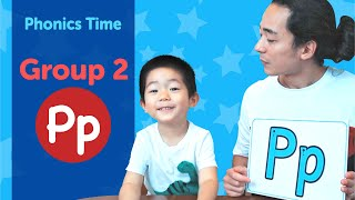 Group 2: Pp | Phonics Time with Masa and Junya | Made by Red Cat Reading