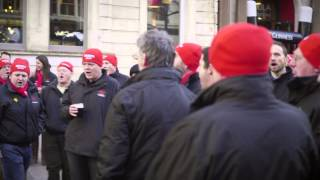 Male Voice Choir Flashmob - Wales vs England RBS 6 Nations 2015