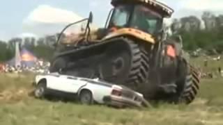 Трактора видео приколы  Менты в шоке! youtube original
