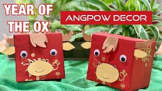 賀年摺紙  DIY Chinese New Year of the OX Red Packet Decor
