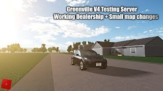 Greenville V4 Testing Server - Working dealership + small map changes! - Roblox