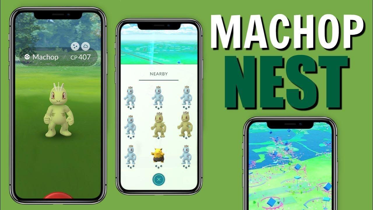 BEST SHINY MACHOP NEST COORDINATES IN POKEMON GO! | JUNE 2019 WEEK 1