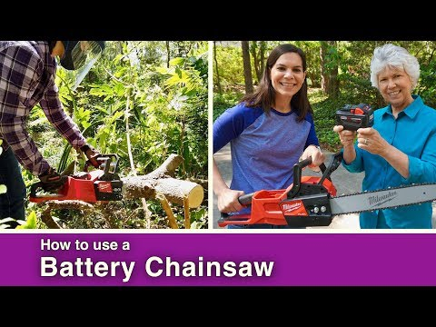 How to: Battery Powered Chainsaw // SAVE YOURSELF!