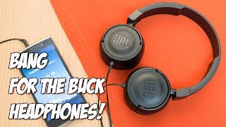 jBL T450 Headphones With Mic Unboxing and Review