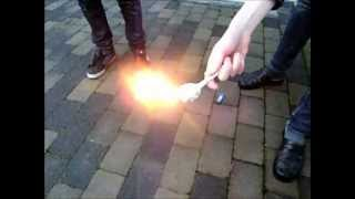 How to make a cool firebomb of household items !