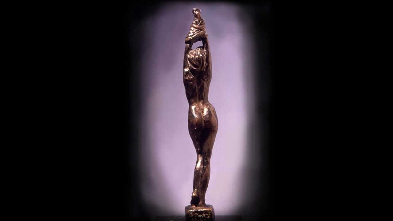sculpture man Bronze and woman nude
