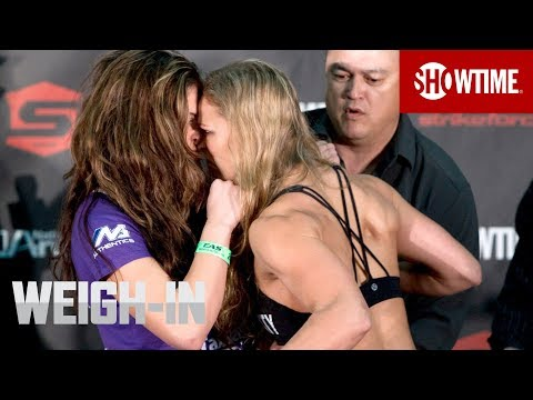 Miesha Tate vs. Ronda Rousey: Weigh-In - Strikeforce MMA | SHOWTIME
