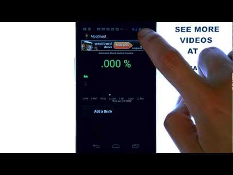 AlcoDroid - App Review - Keep Track Of Your Blood Alcohol Level