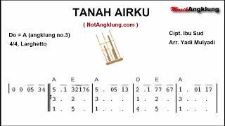 Musik Angklung - TANAH AIRKU (not angklung) Arr. Yadi Mulyadi