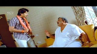 Doddanna Wants Alcohol Comedy Scene | Prajwal Devaraj and Doddanna Kannada Comedy Scenes