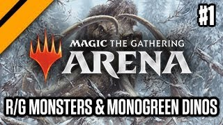 MTG:Arena M19 Launch - Red/Green Monsters and Monogreen Megadinos (sponsored)