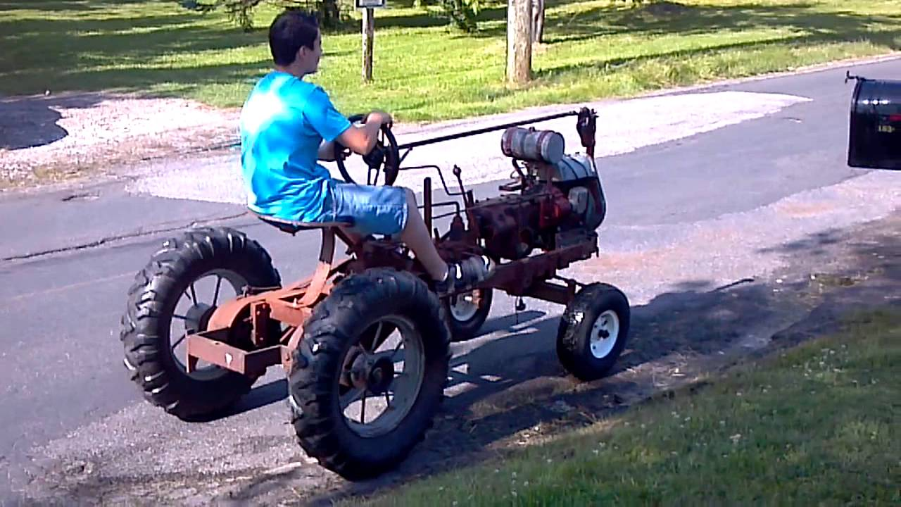 Standard Twin Mod. Old Garden Tractor   YouTube