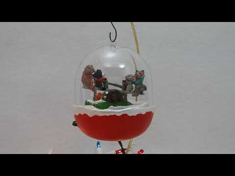 Hallmark Keepsake Ornament Forest Frolics Animals Ride the Seesaw
