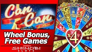 Can Can de Paris Slot - Love Wheel Bonus and Free Games in New Aristocrat game