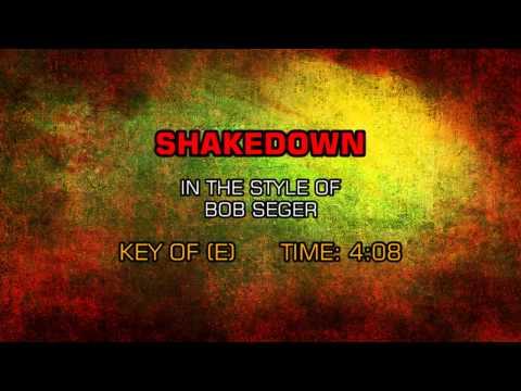 Bob Seger - Shakedown (Backing Track)