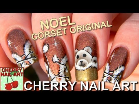 nail art noel corset en fourrure original youtube. Black Bedroom Furniture Sets. Home Design Ideas
