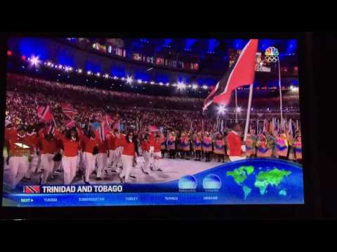 Trinidad and Tobago Olympics 2016 parade of the nations.