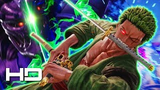 ZORO CUTS SUSANOO?! Roronoa Zoro VS Perfect Susanoo Sasuke | JUMP FORCE E3 2018 Gameplay