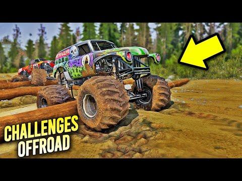 Monster Truck Pada Nyangkut Di Track Ini - Spintires Mudrunner