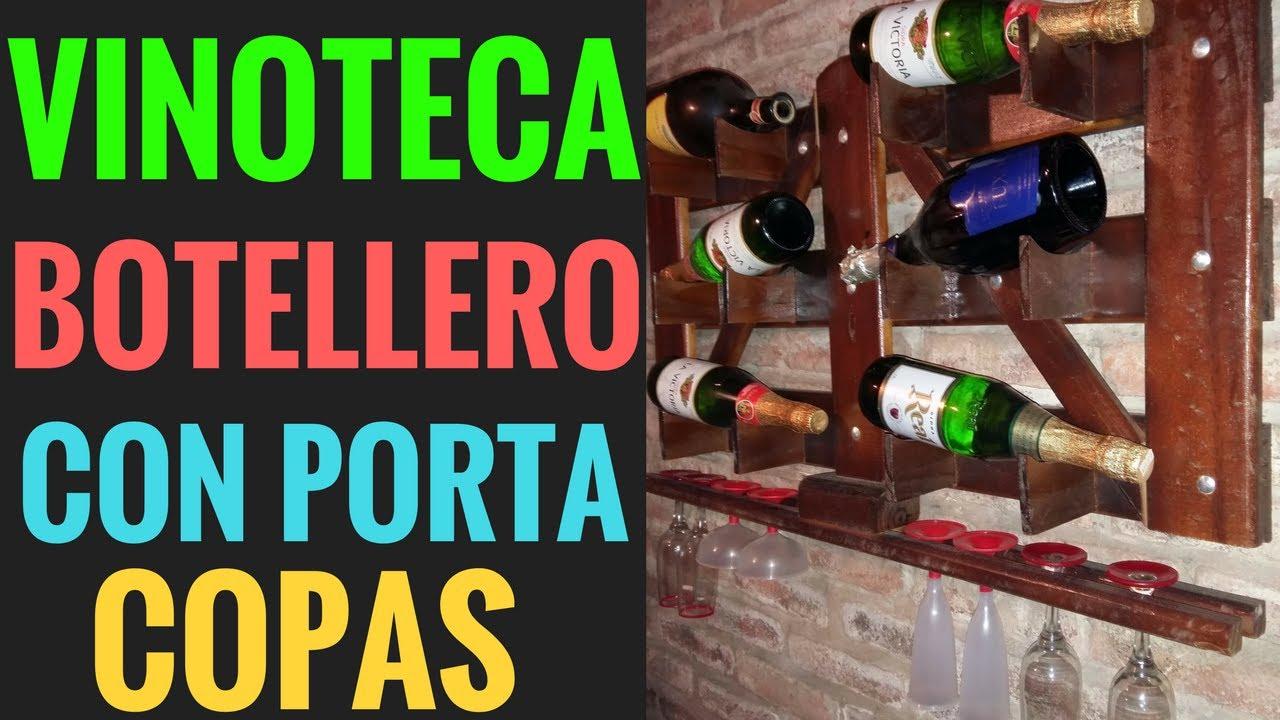 Como hacer una vinoteca de madera rustica como hacer un botellero coperos para vino de pared - Como montar una vinoteca ...