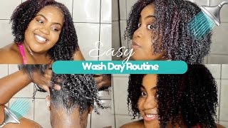 "EASY Wash Day Routine for Length Retention | Start to FINISH | ""Natural Hair"""