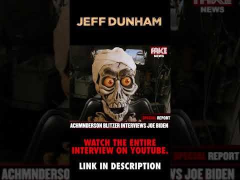 "Download Achmed thanks… uh… ""interviews"", President Joe Biden   JEFF DUNHAM"