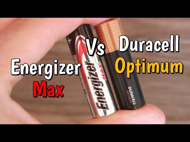 Energizer Max Vs Duracell Optimum Aa Battery Test Youtube