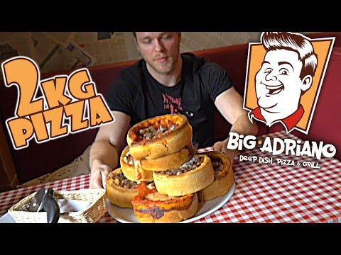 PIZZA CHALLENGE w BIG ADRIANO (CHICAGO STYLE PIZZA) | [Epic Cheat Meal]