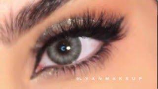 مكياج للعيون المبطنه سهل وسريع للمناسبات بدون أو مع ايلاينر ورموش