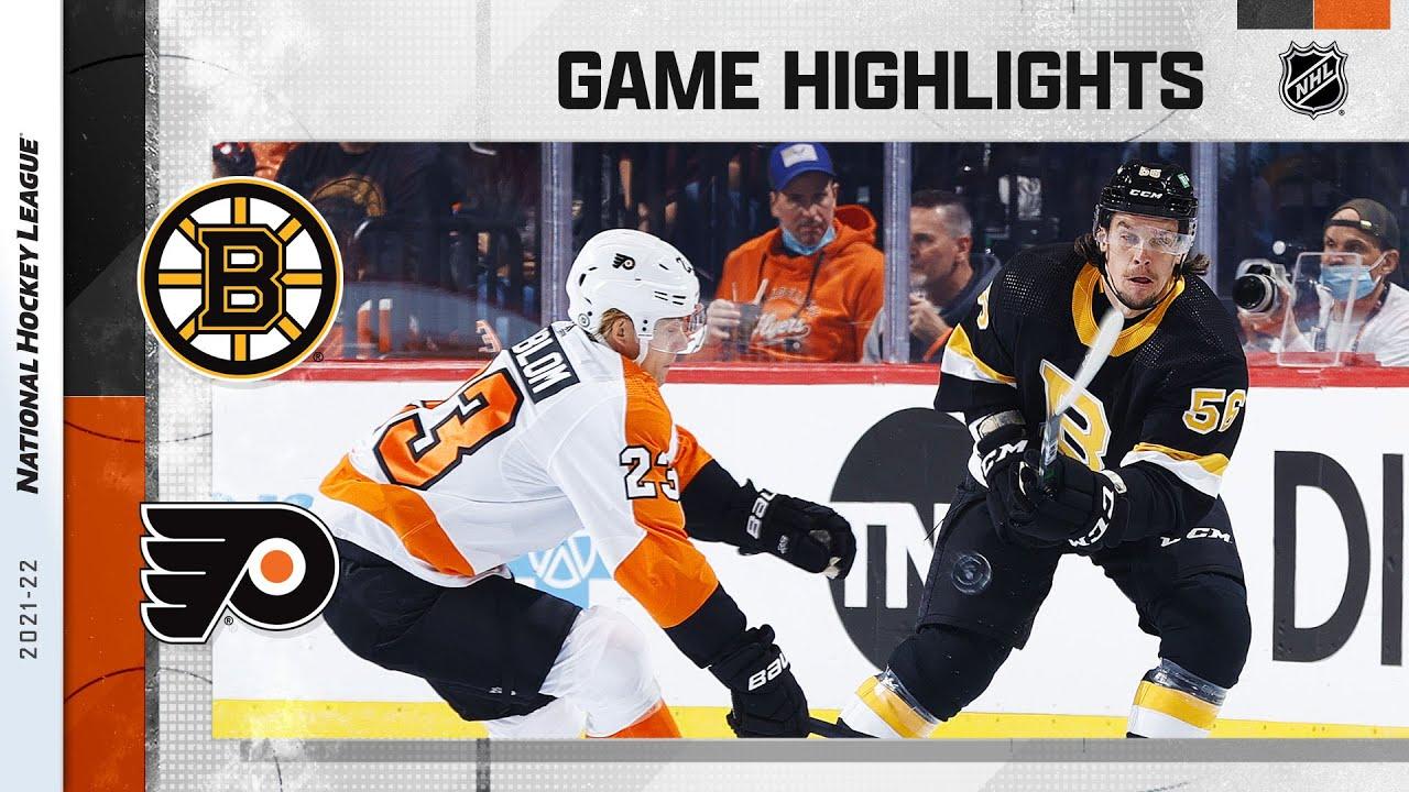 Bruins @ Flyers 10/20/21 | NHL Highlights - NHL