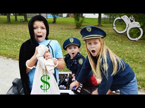 Thumbnail: Cops and Robbers featuring the Assistant silly funny kids video with Sketchy Mechanic