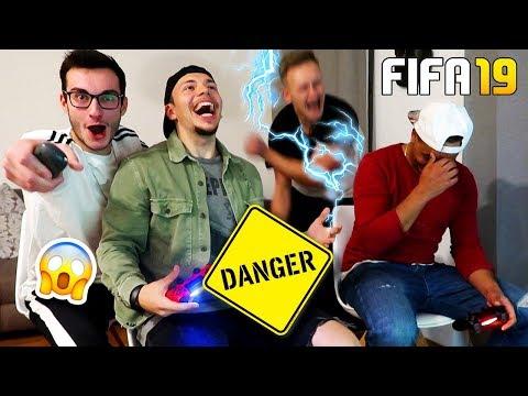 SCHMERZHAFTE FIFA 19 ELEKTROSCHOCKER CHALLENGE! *AUA*