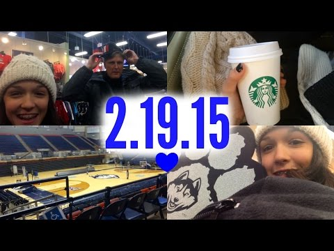 2-19-15 // MY FIRST COLLEGE VISIT TO THE UNIVERSITY OF CONNECTICUT