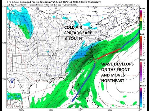 WINTER ARRIVES ON THE WEATHER MAPS NEXT WEEK, THREATS FOR SNOW POSSIBLE