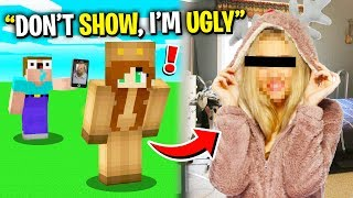 NOOB SHOWS my GIRLFRIEND's FACE REVEAL on FACE CAM! (Minecraft)