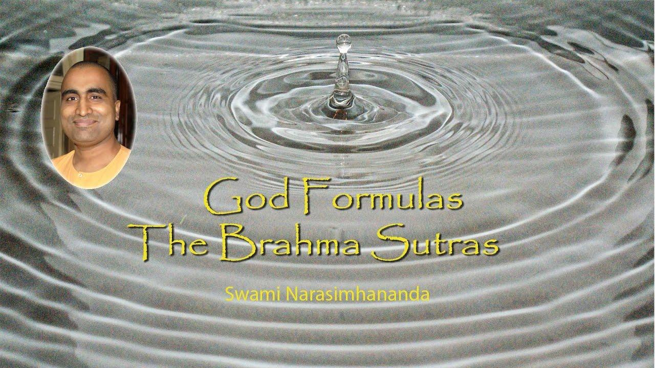 God Formulas 1 Brahma Sutras