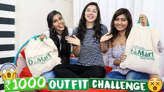 Kritika Goel vs Mridul Sharma INR 1000 Outfit Challenge! DMart Edition   Heli