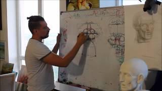 Как рисовать губы. Урок Андрея Самарина. HD