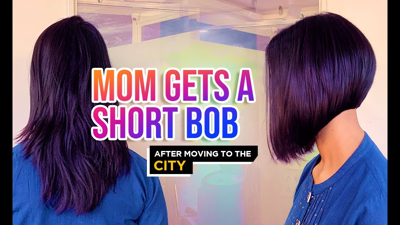 Medium To Short A Line Bob Indian Mom Haircut Nyny Unisex Salon Youtube