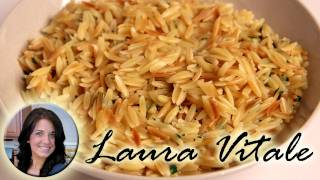 Buttery Parmesan Orzo Recipe - Laura Vitale - Laura In The Kitchen Episode 306