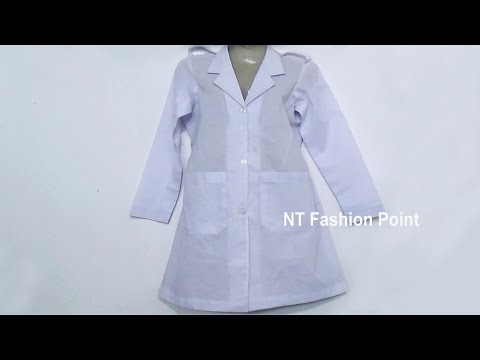 Learning how to make doctors apron cutting & stitching step by step ▶▶ NT Fashion Point