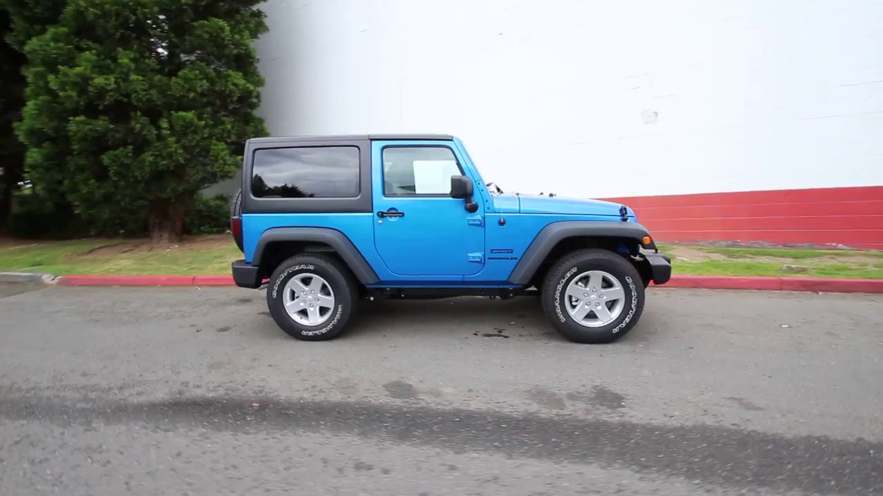 Jeep Wrangler Red Seats 2016 Jeep Wrangler Sport | Hydro Blue | GL216618 | Redmond ...