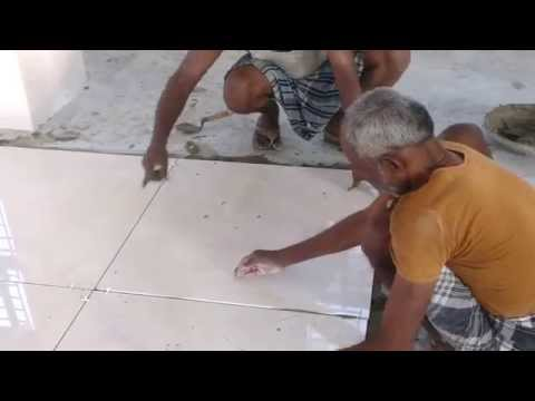 Kajaria 800x800 Tiles laying with spacer