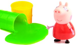 peppa pig en espaol paw patrol play doh peppa pig stop motion slime surprise eggs toys