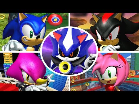 Sonic Heroes - All Bosses + Cutscenes (No Damage)