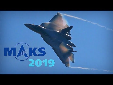 MAKS 2019 ✈️ Sergey Bogdan Steals The Show With The Su-57 - HD 50fps