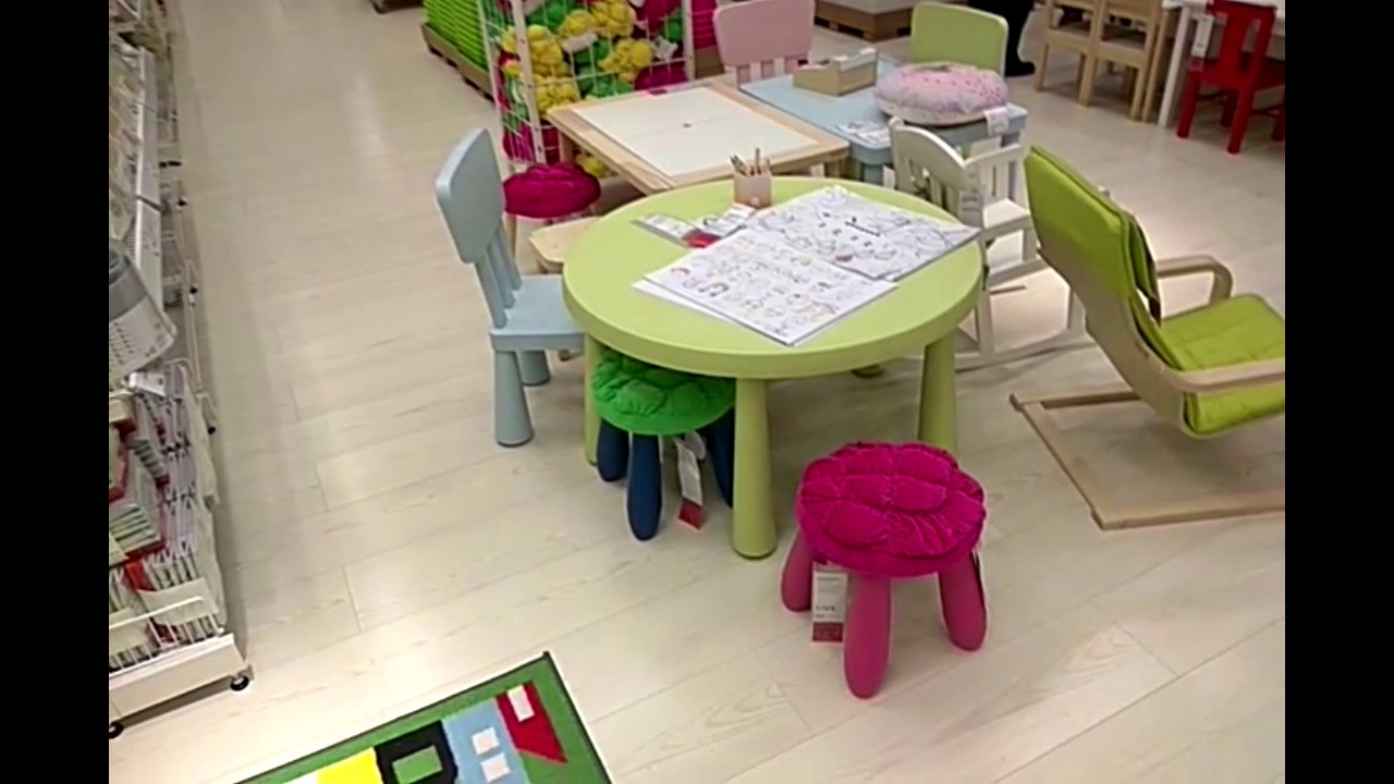 детский стульчик и стол икеа маммут Youtube