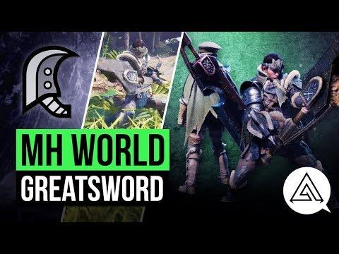 Monster Hunter World | New Great Sword in Depth Gameplay